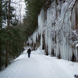 Hiker_Icicles